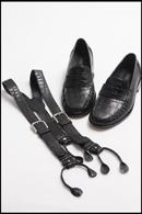BLACK CUSTOM ALLIGATOR SUSPENDERS CUSTOM HANDMADE MENS DRESS SHOES BLACK CUSTOM ALLIGATOR SUSPENDERS