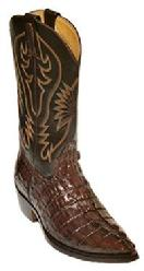 HAND MADE BROWN CROCODILE WESTERN  COWBOY/COWGRIL BOOTS
