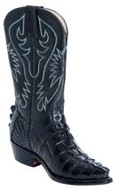 HAND MADE MEN/WOMENS ALLIGATOR WESTERN COWBOY BOOTS COWBOY/COWGRIL BOOTS BLACK