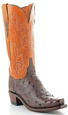 WOMEN'S BROWN FULL QUIL HANDMADE WESTERN  BOOTS