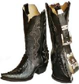 WOMENS BLACK XX TOE WESTERN ALLIGATOR TAIL  BOOTS