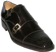 MEN'S CUSTOM MADE SQUARE TOE LEATHER SHOES