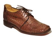BROWN CROCODILE BESPOKE HANDMADE LACE UP SHOES
