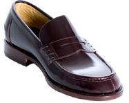 MEN'S CUSTOM BESPOKE MADE LEATHER PENNY LOAFERS HANDMADE LA CA