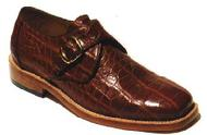 BESPOKE MENS ALLIGATOR LOAFERS WITH BUCKLE ALLIGATOR LEATHER/SKIN SHOES