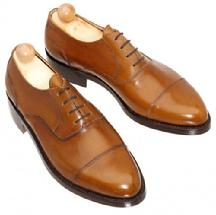 Custom made cap toe leather shoes hand made